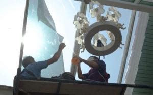 Low-E window film application in Utah