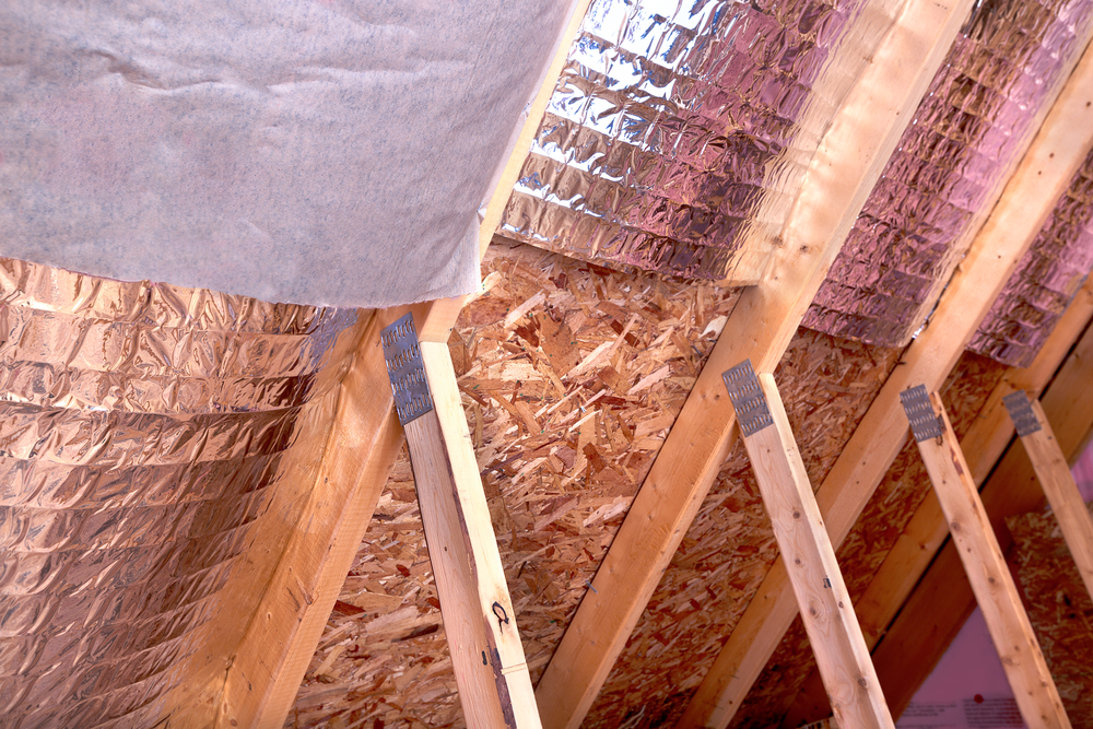 Radiant barrier insulation installation in Utah
